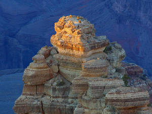 Free Picture of Colorful, Layered Rock Formation at the Grand Canyon
