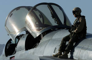 Free Picture of Air Force Captain on a Prowler Aircraft
