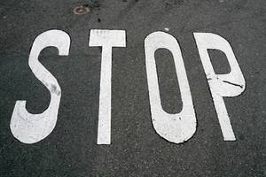 "Free Picture of ""Stop"" Painted on the Street"