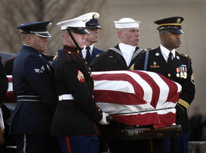 Free Picture of Soldiers Bearing Gerald Ford's Casket