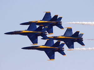 Free Picture of The Blue Angels Flight Demonstration Squad