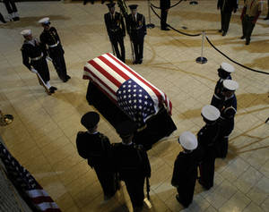 Free Picture of Gerald Ford's Flag Covered Casket