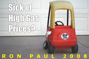 Free Picture of a Ron Paul for President Campaign Ad