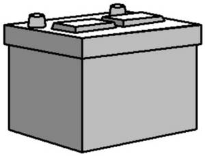 Free Clipart of a Car Battery