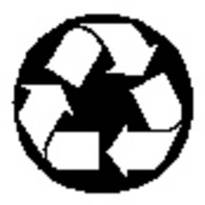 Free Clipart Picture of the Recylce Symbol