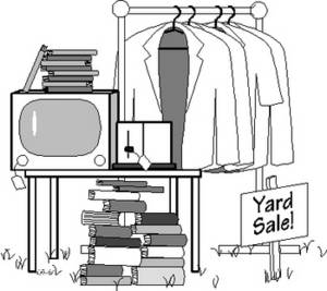 Free Picture of a Yard Sale