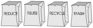 Free Picture of Recycle Bags For a Slogan Campaign