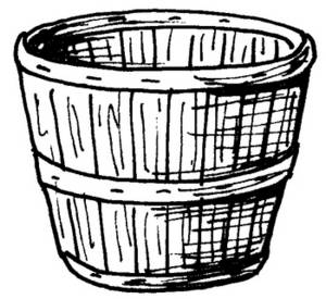 Free Picture of a Wooden Basket