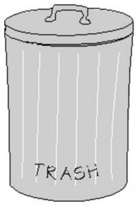 Free Picture of Metal Garbage Can