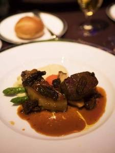 Free Photo of Roast Duck Liver and Fillet Mignon