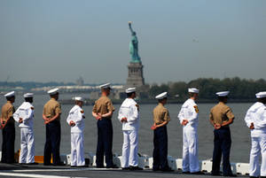 Free Picture of Sailors, Marines and Sea Cadets Aboard the USS Wasp