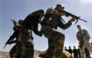 Free Picture of Afghan Army Soldiers in Training