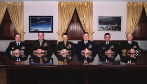Free Picture of U.S. Joint Chiefs of Staff in the Gold Room, Pentagon
