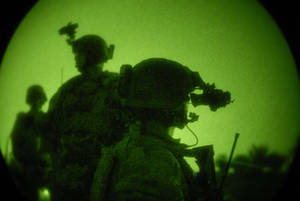 Free Picture of Night Search for Missing U.S. Soldiers