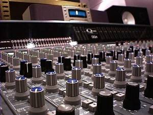 Free Picture of a Multi-Channel Sound Mixing Board