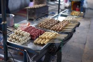 Free Picture of  a Thai Dumpling Stand
