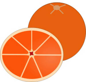 Free Picture of an Orange
