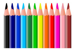 Free Clipart Picture of Colored Pencils