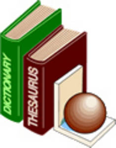 Free Clipart Picture of a Dictionary and a Thesaurus