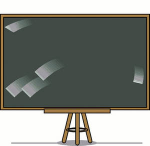 Free Clipart Picture of a Chalkboard