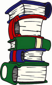 Free Clipart Picture of a Stack of Fat Books