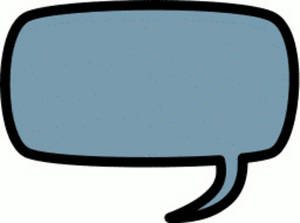 Free Clipart Picture of a Round Edged Rectangular Callout