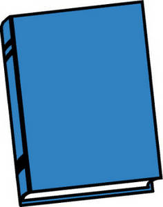 Free Clipart Picture of Blue Book