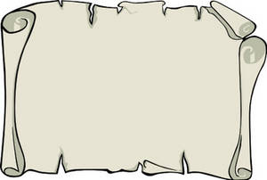 Free Clipart Picture of a Blank Scroll