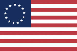 Free Clipart Picture of The Original American Flag, Old Glory