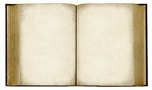 Free Clipart Picture of an Open, Old Book With Blank Pages