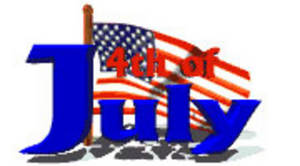 Free Clipart Picture of a 4th of July Banner