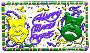 Free Clipart Picture of a Mardi Gras Graphic