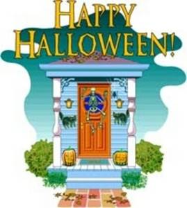 Free Clipart Picture of a Happy Halloween Graphic