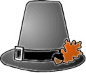 Free Clipart Picture of a Pilgrim's Hat