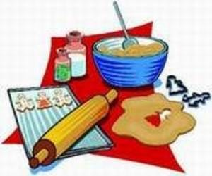 Free Clipart Picture of Baking Cookies