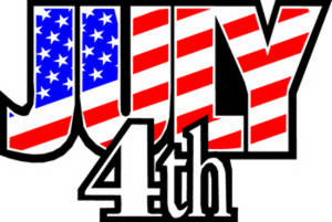 Free Clipart Picture of a Fourth of July Sign