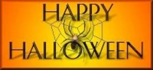Free Clipart Picture of Happy Halloween with a Spider