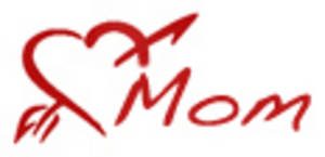 Free Clipart Picture of a Heart-Mom Tattoo