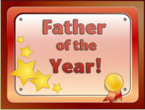 Free Clipart Picture of Father of the Year Award