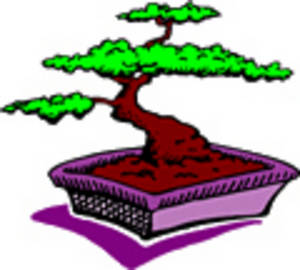 Free Clipart Picture of a Cartoon Bonsai