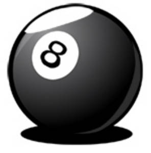 Free Clipart Picture of an 8 Ball
