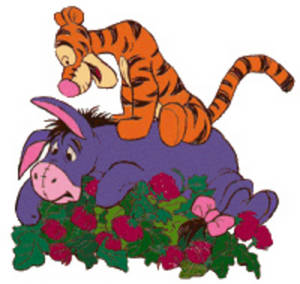 Free Clipart Picture of Tigger on Eeyore's Back. Click Here to Get Free Images at Clipart Guide.com