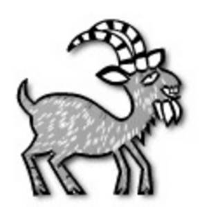 Free Low Res Clipart of a Billy Goat, Web Graphic
