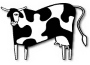 Free Low Res Clipart of a Jersey Cow, Web Graphic