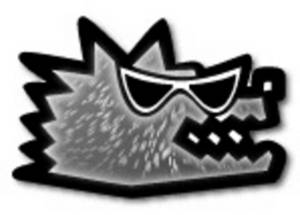 Free Low Res Clipart of a Wolf Wearing Sunglasses, Web Graphic