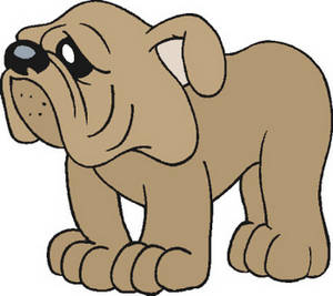 Free Clip Art Picture of a Sad Looking Doggy