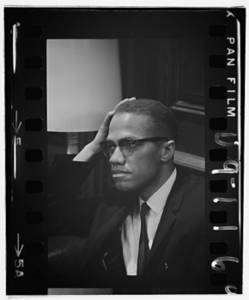 Free Picture of Malcom X During a Press Conference, March 1964
