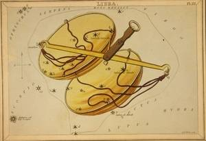Free Illustration of Libra - Zodiac Sign - By Etcher Sidney Hall
