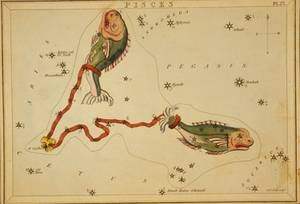Free Illustration of Pisces - Zodiac Sign - By Etcher Sidney Hall