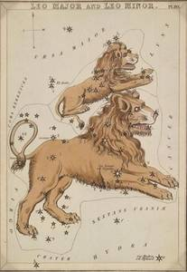 Free Illustration of Leo - Zodiac Sign - By Etcher Sidney Hall
